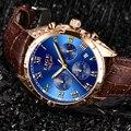 Мужские часы LIGE топ бренды роскошные мужские военные спортивные часы мужские кожаные водонепроницаемые часы Мужские кварцевые часы Chrono Да...