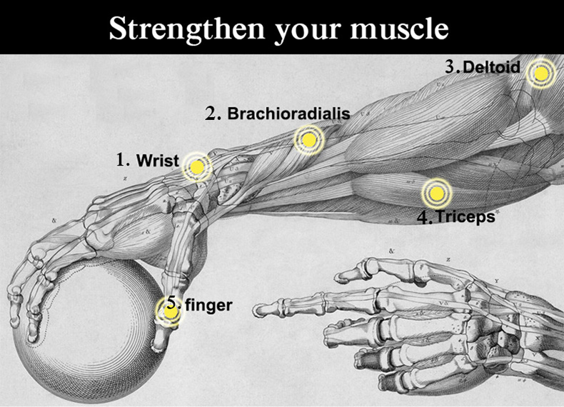 mão spinner força bola 6 cor
