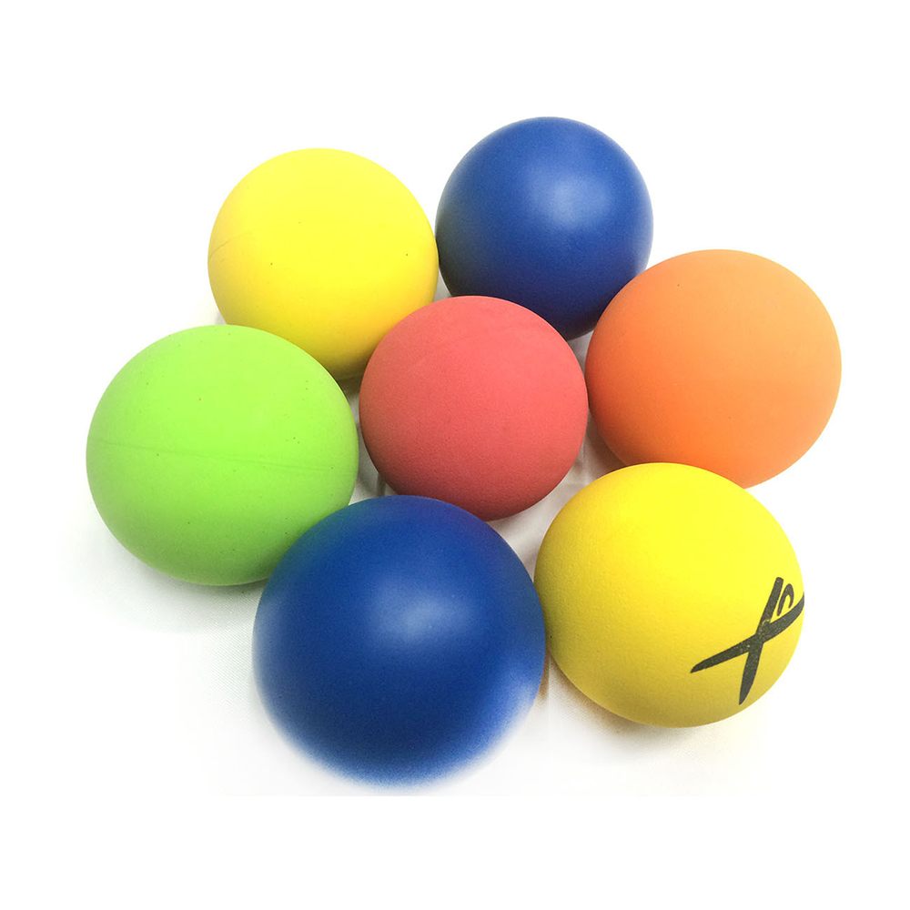 10pcs/lot 5.5cm Racquet ball Squash Low Speed Rubber Hollow Ball Training Competition Thickness 5mm High Elasticity Colorful