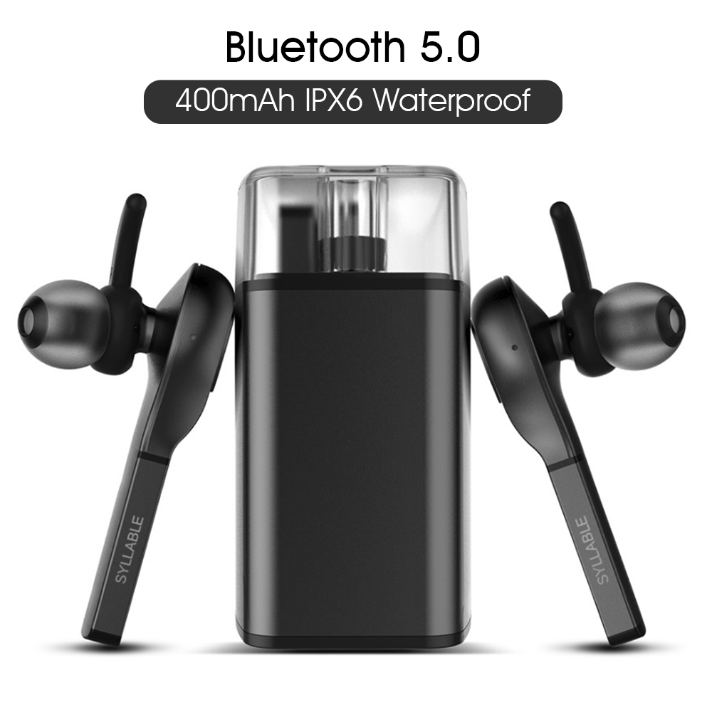 SYLLABLE D9X TWS Detachable Battery Bluetooth Earphone Portable Lighter Charge case Bluetooth Headset Wireless Earbuds for