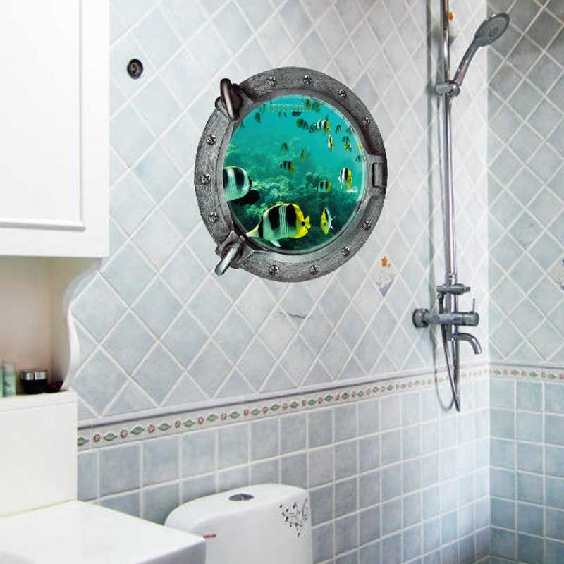 โลกใต้น้ำ 3d ปลาขนาดเล็กสติ๊กเกอร์ติดผนังสำหรับตกแต่งบ้านห้องนั่งเล่นสัตว์พิมพ์ภาพจิตรกรรมฝาผนังศิลปะโปสเตอร์สติกเกอร์
