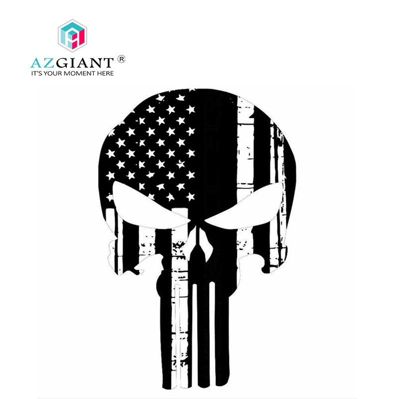 Punisher Skull USA Real Flag Style window decal Numerous sizes free shipping
