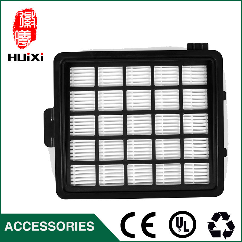 1 PCS black filter with good quality replacement for Vacuum Cleaner Parts hepa filter and filter cartridge FC8146  FC8148