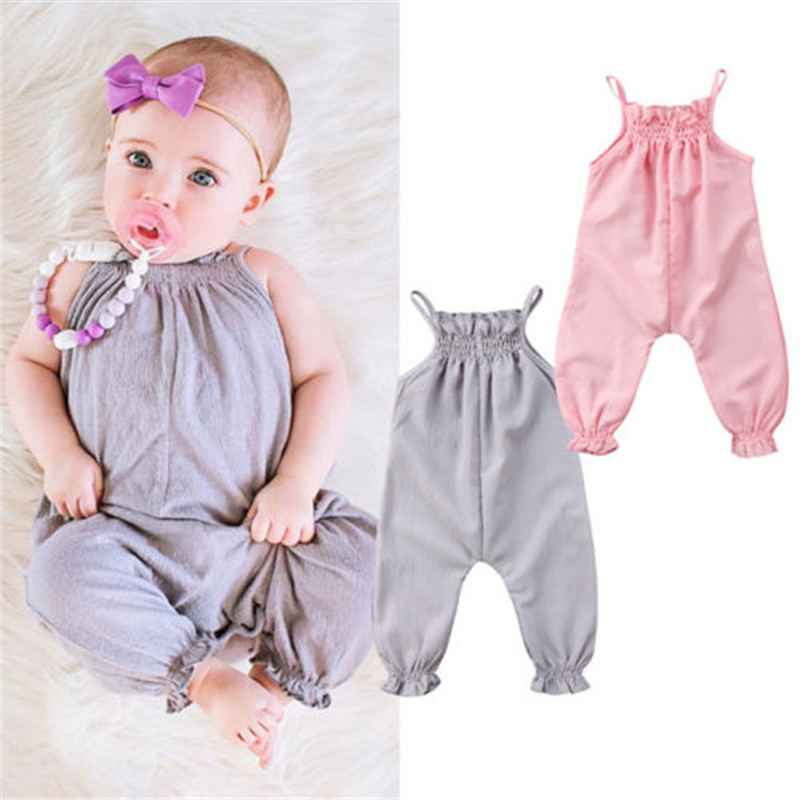 Bodysuits & One-pieces Rompers Precise Toddler Kids Baby Girls Summer Ruffle Romper Jumpsuit Harem Pants Bowknot Outfit Moderate Cost