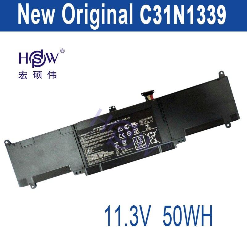 HSW 11.3V 50WH    for Asus ZenBook UX303 UX303L UX303LN C31N1339 New Battery hsw brand new 96wh 11 4v c32n1415 li ion laptop battery for asus zenbook pro n501vw ux501jw ux501lw