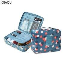8863bb2d3 QIAQU marca hombre mujer maquillaje bolsa de cosméticos caso de la belleza  del maquillaje organizador bolsa