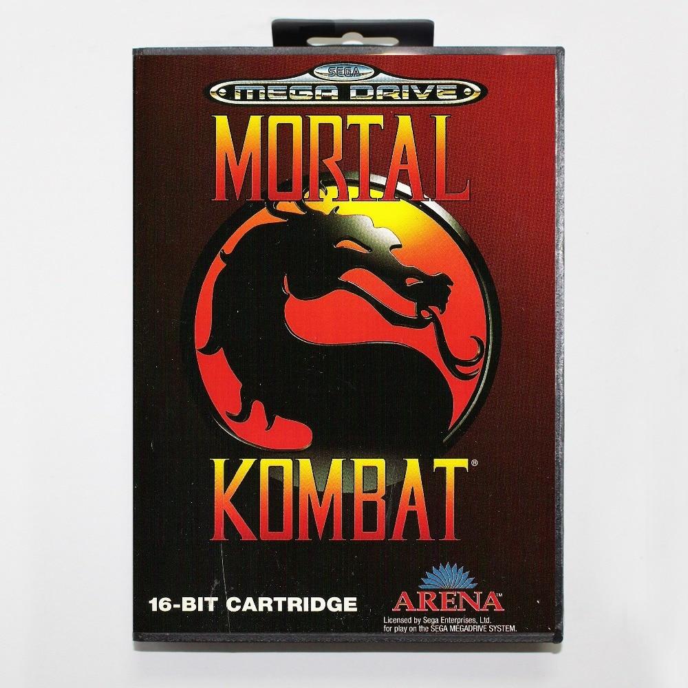 Mortalkombat 16 bit SEGA MD Game Card With Retail Box For Sega Mega Drive For Genesis