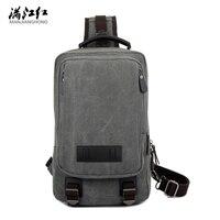 Trunk Shoulder Bag European American Crossbody Bag Canvas Messenger Bag Man Chestpack Bag 1261