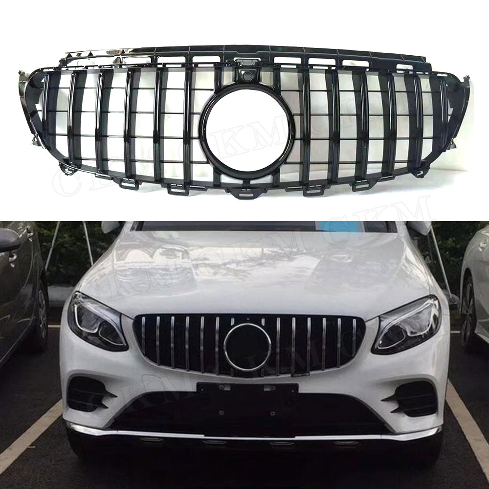 E Class ABS Black Silver Front Bumper Mesh <font><b>Grill</b></font> Grille for <font><b>Mercedes</b></font> Benz <font><b>W212</b></font> W213 C238 E200 E250 E300 E320 E350 AMG GT R 14-19 image