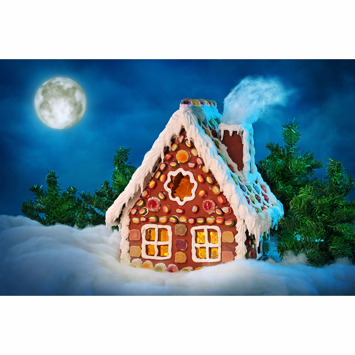 Christmas Gingerbread House Background.Allenjoy Background For Photo Christmas Gingerbread House