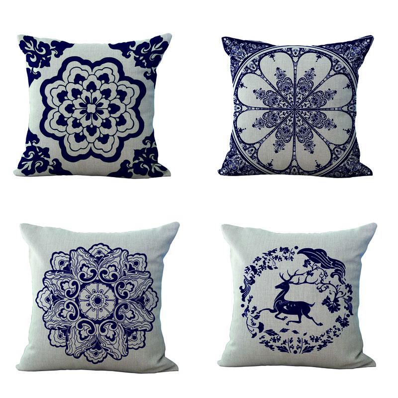 Thermal Usa Textile Flower Pattern Sofa Car Decorative Pillow 45Cmx45Cm  Sofa Home Car Decorative 1 Side