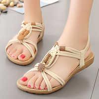 Sandalias de mujer, sandalias cómodas, chanclas de verano, nueva moda 2019, sandalias planas tipo gladiador de alta calidad, sandalias para mujer