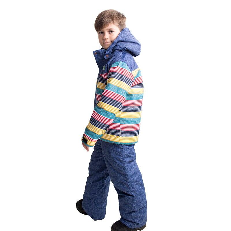 2019 enfants combinaison de Ski Snowsuit hiver enfants garçons filles ensembles de Ski veste de Ski + sangle pantalon snowboard ensembles extérieur coupe-vent
