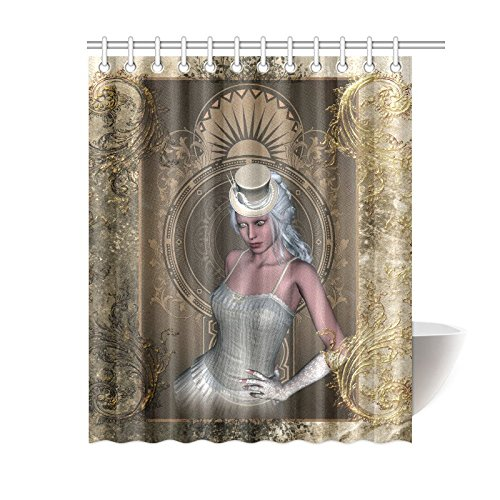 NANAZ Custom Beautiful Women Victorian Style Bathroom Waterproof Fabric  60x72 Inch Shower Curtain