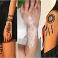 1piece body painting white black henna tattoo fake new lace flash Arabic Indian rose butterfly wedding art paint on hand arm
