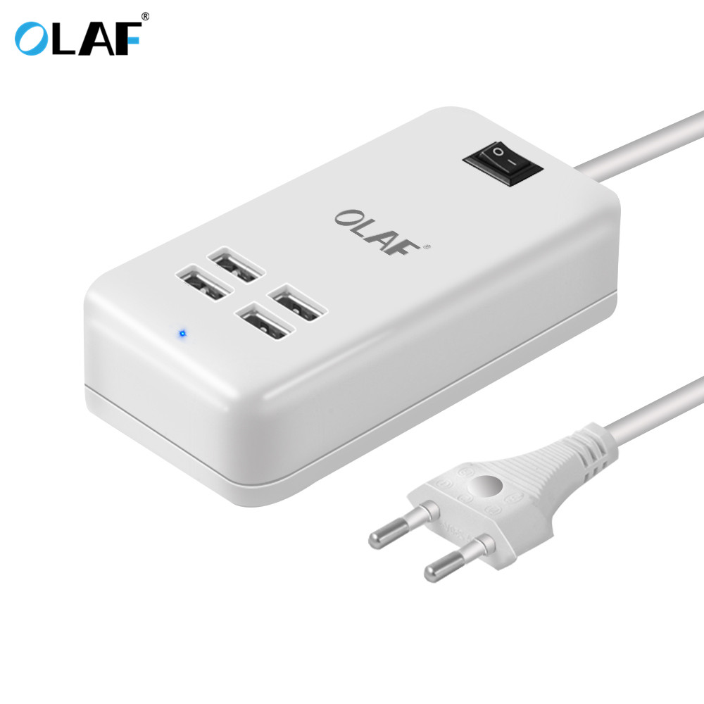 Olaf 5V3A 4 Ports USB Travel Charger EU/US Plug USB Wall charger fast charging for samsung Smart Adapter Mobile Phone Charger
