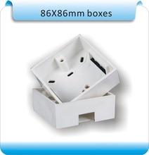Бесплатная доставка 10 шт. 86 X 86 мм установить распределительную коробку, Щитка розетки, Флеш ящик, Назад пластиковые кладочного стены