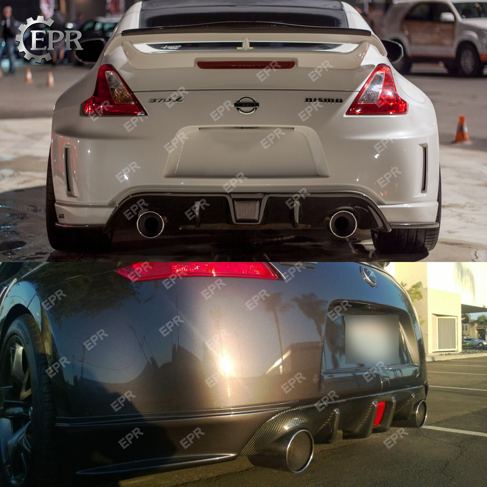 For Nissan 370Z Z34 Rear Diffuser In Car Bumpers Carbon Fiber 09 onwards Carbon Fiber Rear Bumper Diffuser For 370Z Z34 Tuning in Bumpers from Automobiles Motorcycles