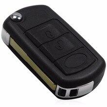 Удаленные 3 Кнопки Флип Ключ Оболочки подходит для LAND ROVER Range Rover Sport LR3 Discovery Case Fob 3 BTN С логотип