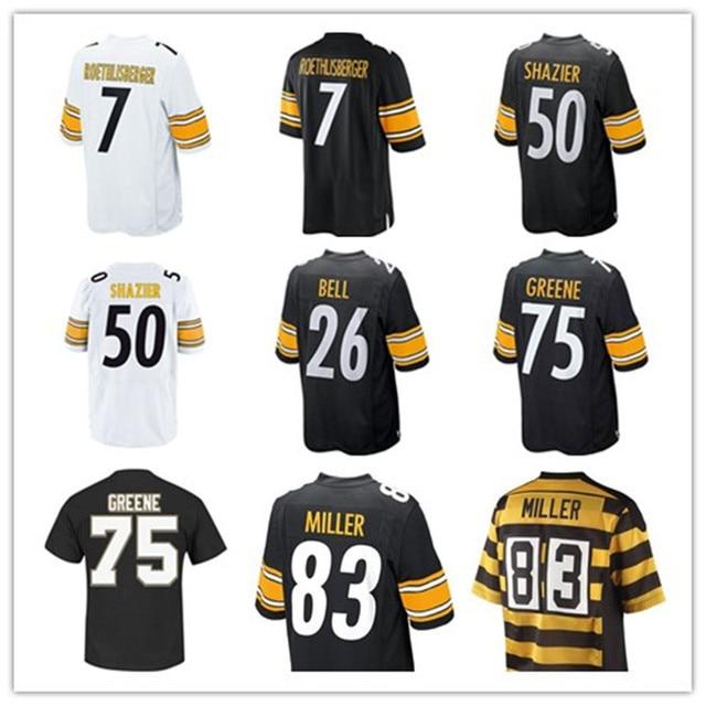 #7 Ben Roethlisberger    #50 Ryan Shazier  #26 Le'Veon Bell  #75  Joe Greene   #83 Heath Miller  Limited Jersey