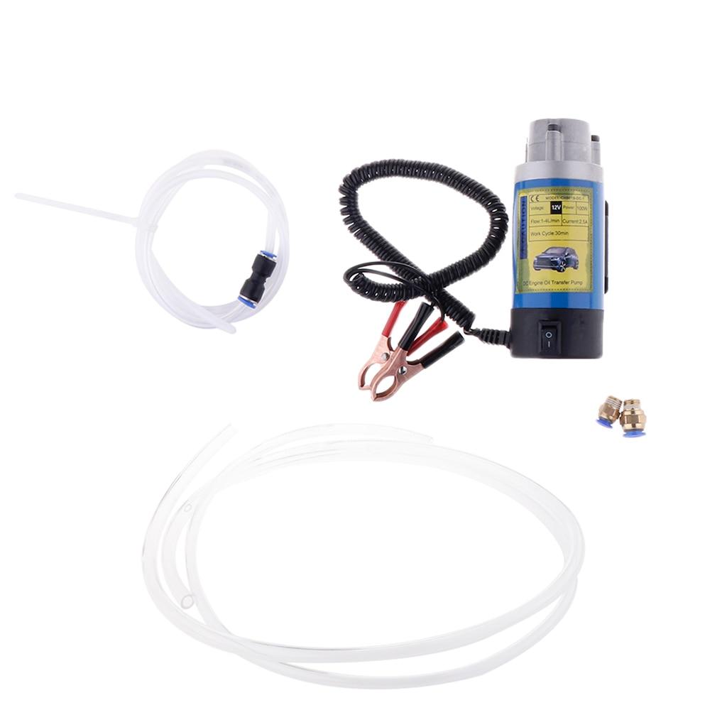 12 v Électrique Extracteur Pompe de Transfert D'huile Fluide Diesel Voiture Moto 1-4L/min-avec 2 Tubes Voiture Bateau marine Huile De Garage Transfert