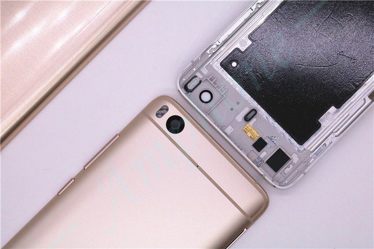 For Xiaomi 5S Spare Parts Back Battery Cover Door Housing + Side Buttons + Camera Flash Lens For Xiaomi 5S M5S Mi5S