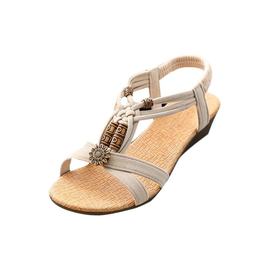 2018 Women's Casual Peep-toe Flat Buckle Shoes Roman Summer Sandals Luxury Chaussures Femme Brand Fashion Sapato Feminino 3.28 luxury brand shoes women peep toe