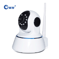 CWH 2MP 1080P Wireless WiFi Camera IP ONVIF Baby Cam with RJ45 Audio SD Card Recording P2P Phone APP ICSEE WX7D