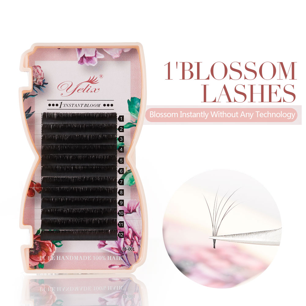 Yelix 2d-6d Magnetic Camellia Lashes False 1S Blossom Eyelashes Extension Mink Eye Lash Volume Fan Eyelashes Fake Lash Makeup