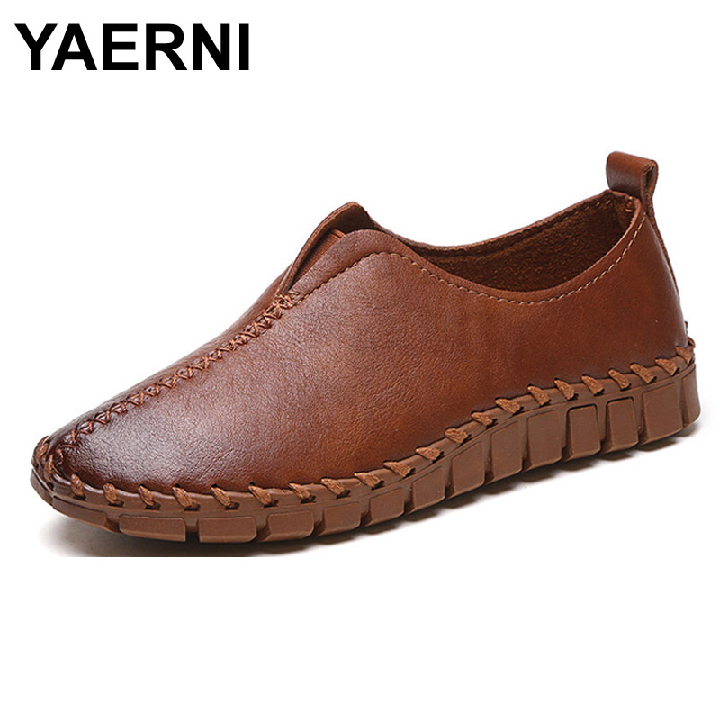 YAERNI2017 Platform Loafers Slip On Ballet Flats Pinted Toe Shoes Woman Comfortable Creepers Casual Women Flat Shoes XWD4879