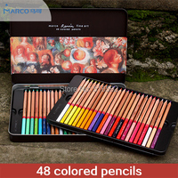 Marco3100 Renoir Fine Art 48 Colored Pencils In A Box High Quality Drawing Pencil Set For