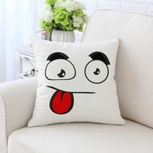 BZ076 Emoticons Pillowcases Pillow Cover Washable Cotton Case Home Textile 45cm*45cm/18x18 Inch