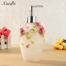Xueqin Free Shipping 350ml Bathroom Resin Hand Pump Liquid Soap Dispenser Exquisite Hotel Lotion Shampoo Bottle Dispenser