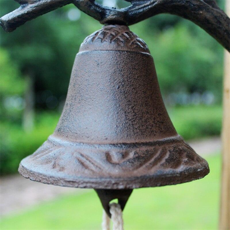 Чугун висит птица Здравствуйте Bell ужин колокол ручная роспись Изделия из металла настенный колокол на дверь Детская украшения ретро - 5