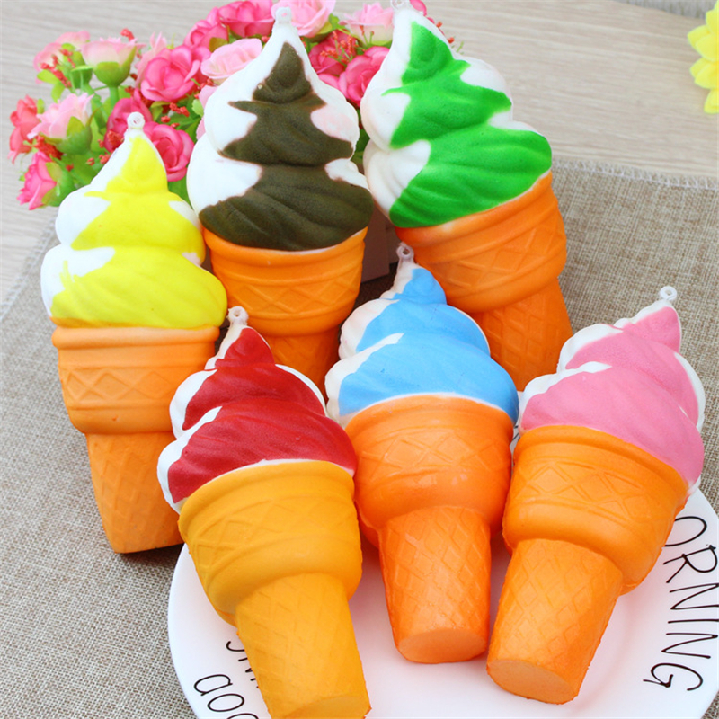 9.5CM Ice Cream Simulation Toy Mini Cute Phone Straps Squishy Toys Slow Rising Squeeze Colorful Fun Phone Strap Ornaments