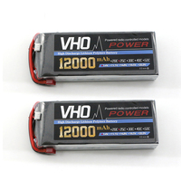 VHO 2pcs 2S 7.4v 12000mah 25c Shaft the Uninhabited Machine HM Lithium Battery for RC Plane