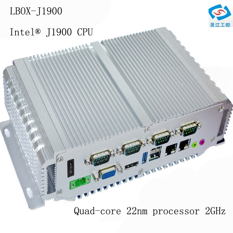 Embedded Mini Pc 2xlan Industrial Computer Intel Celeron J1900 Processor With 4*USB Port 4*RS485 Fanless Embedded Pc