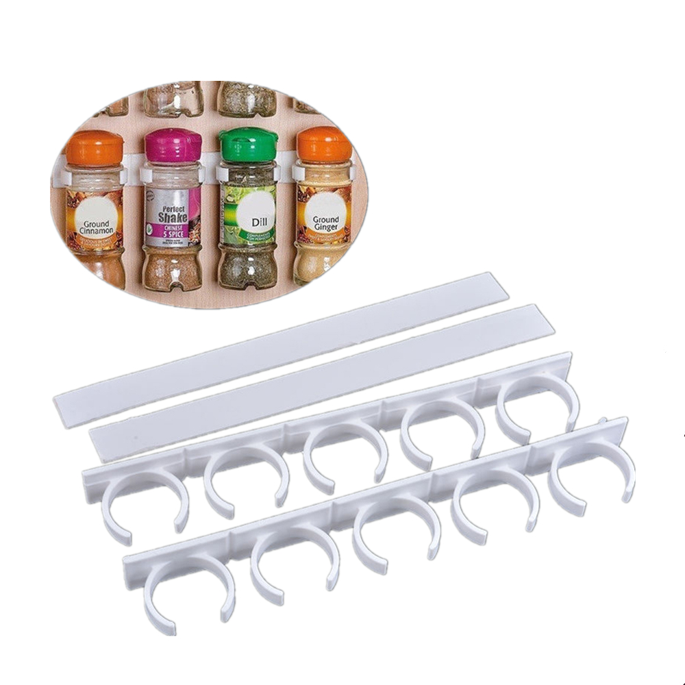 2pcsStorage Clips Storage Rack Spice Bottles Holder Kitchen Supplies Gadgets Bottle Racks Holders Kitchen Storage & Organization