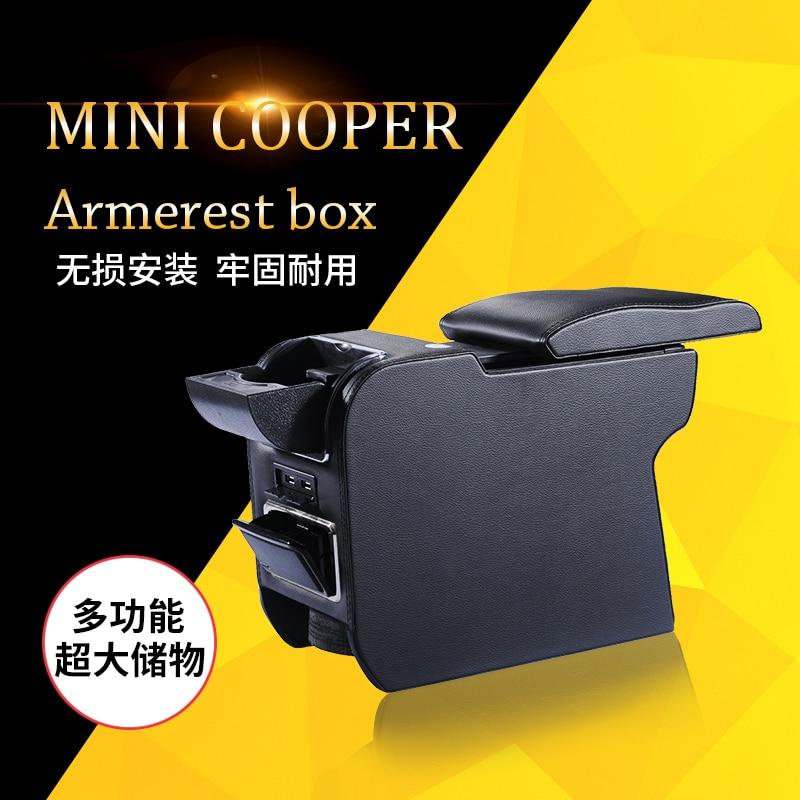 Car arm rest armrest storge box holder fit for Mini Cooper car armrest box cover for audi