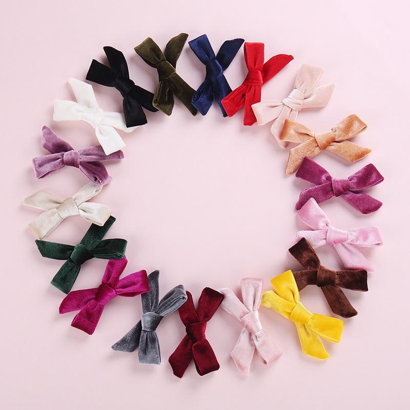 Детская заколка для волос высокого качества для девочек, популярная детская заколка для волос, 1 шт., корейский бант, аксессуары для волос, бархатная заколка