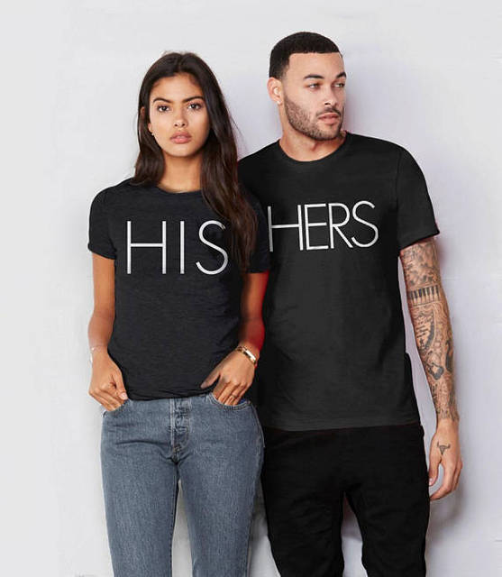 Okoufen Valentines Day Couple Unisex Lover His Hers T Shirt Matching