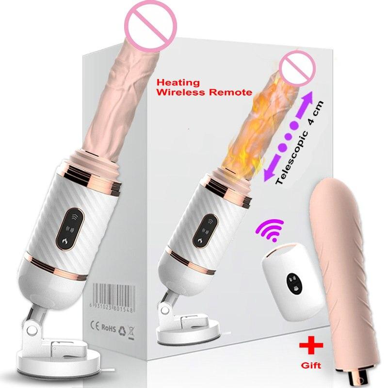 DIBEI Télécommande Automatique Machine À Sexe pour Les Femmes Pompage Pistolet Poussée Gode Vibrateur Masturbation Féminine Jouets Sexuels Adultes