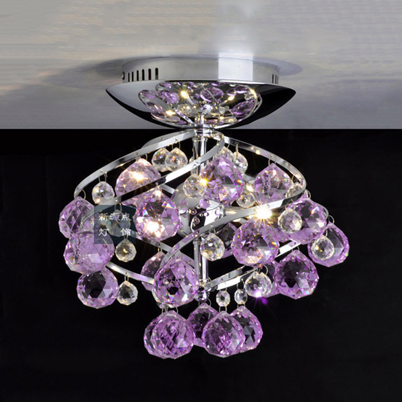 New purple modern K9 LED Crystal Ceiling lights hall balcony bar     New purple modern K9 LED Crystal Ceiling lights hall balcony bar lamp with  LED light source in Ceiling Lights from Lights   Lighting on Aliexpress com