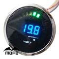 Mofe logo original lente humo motor paso a paso 20 led digital 52mm 2 pulgadas medidor de voltios para racing car