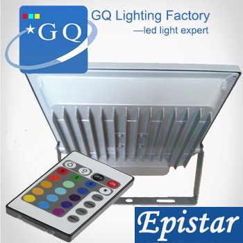 10pcs factory hot sale Fedex DHL 10w 20w  RGB led flood light 30w 50w projector outdoor light lighting lamp