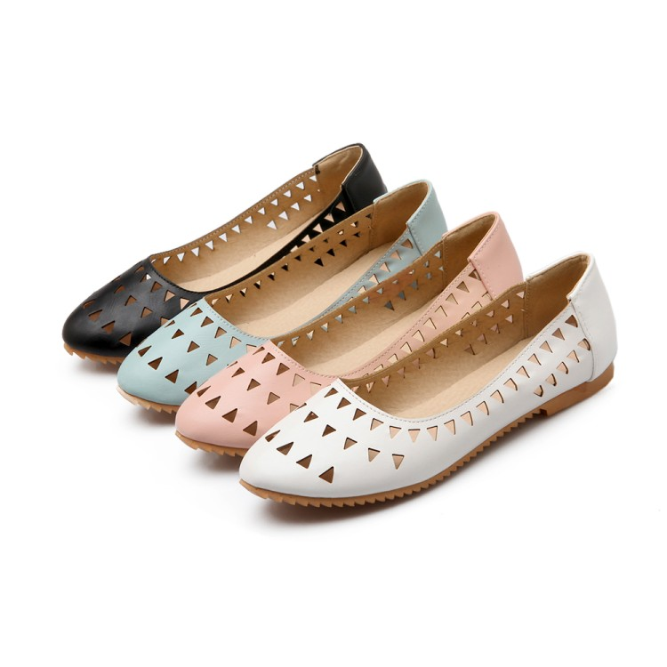 2017 Rushed Creepers Large Size 34-47 Women's Fashion Shoes Woman Flats Spring Female Ballet Metal Round Toe Solid Casual 8-15 plusbig size 34 43 women s fashion shoes woman flats spring shoes female ballet shoes metal round toe solid casual shoes 237