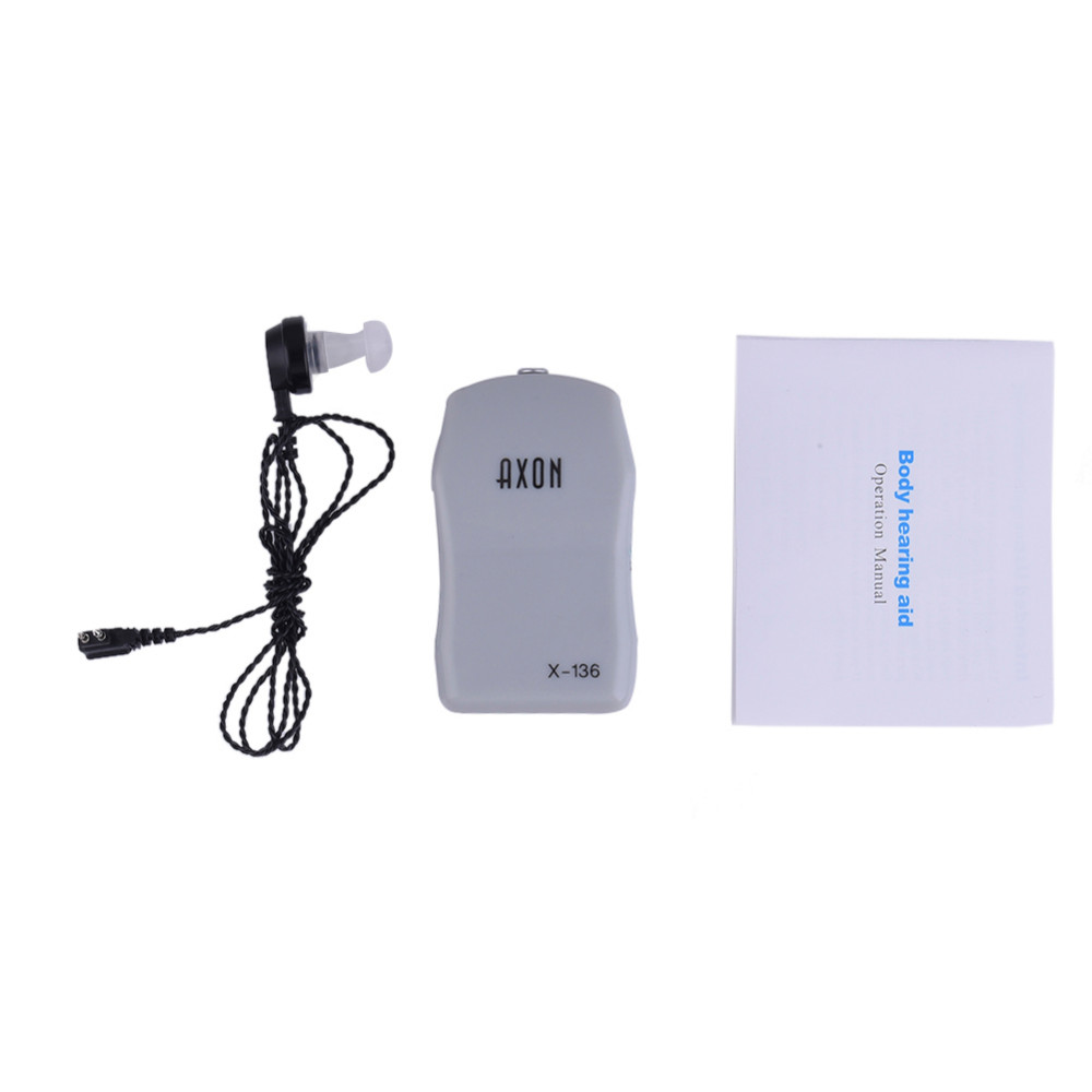 Portable Hearing Aid Voice Volume Adjustable Sound Amplifier Severe Hearing Loss Hearing Aid Machine with Earplug Ear Care 8