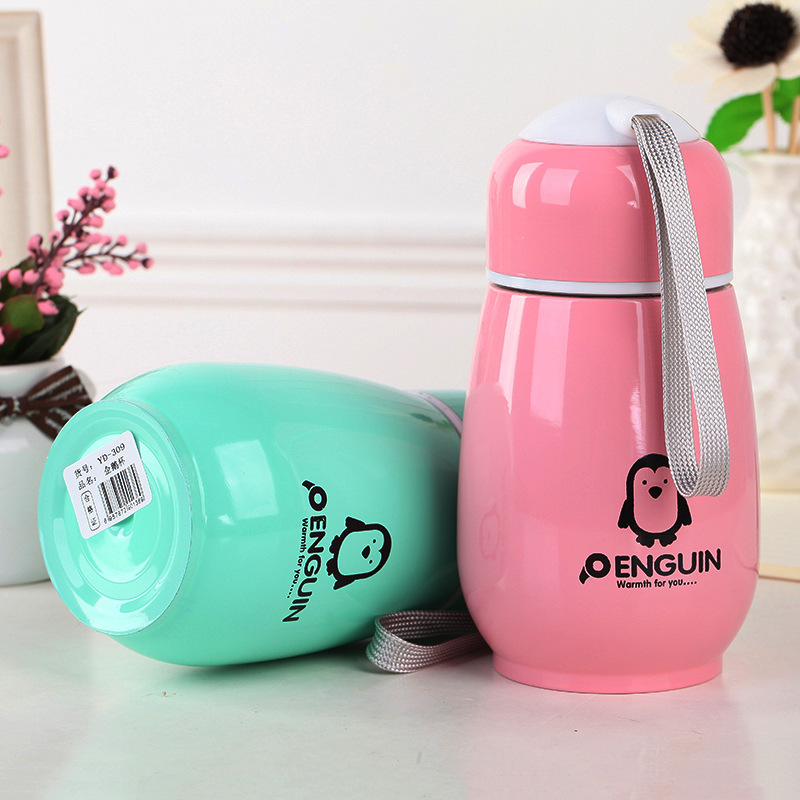 300ML Japanese Penguin Stainless steel Thermos water bottle Drinking bottle for water my ...