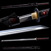 Brandon Swords Straight Blade Japanese Samurai Sword 1060 Carbon Steel Sharp Tamashigiri Ninja Sword Beautiful Present