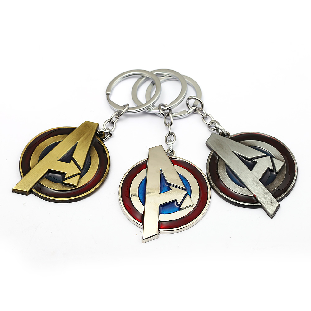 Movie Avengers Infinity War Character Captain America Shield Alloy Keychain Key ring Key Chain For Men Boy Gift